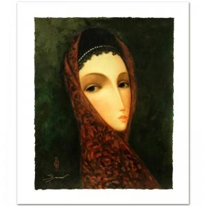 "Legendary Russian Artist Sergey Smirnov (1953-2006)! ""Contessa"" Limited Edition Mixed Media on Canvas"