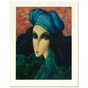 "Legendary Russian Artist Sergey Smirnov (1953-2006)! ""Marina"" Limited Edition Mixed Media on Canvas"