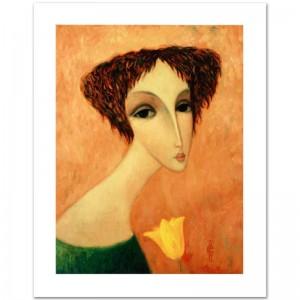"Legendary Russian Artist Sergey Smirnov (1953-2006)! ""Tamara"" Limited Edition Mixed Media on Canvas"