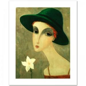 "Legendary Russian Artist Sergey Smirnov (1953-2006)! ""Natalia"" Limited Edition Mixed Media on Canvas"
