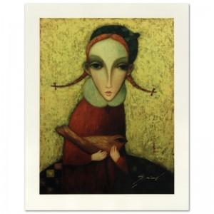 "Legendary Russian Artist Sergey Smirnov (1953-2006)! ""Yana"" Limited Edition Mixed Media on Canvas"
