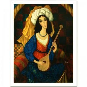 "Legendary Russian Artist Sergey Smirnov (1953-2006)! ""Scheherazade"" Limited Edition Mixed Media on Canvas (26"" x 35"")"