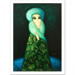 "Legendary Russian Artist Sergey Smirnov (1953-2006)! ""Lara"" Limited Edition Mixed Media on Canvas (25"" x 35"")"
