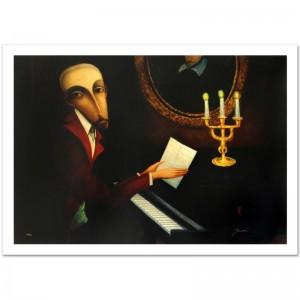 "Legendary Russian Artist Sergey Smirnov (1953-2006)! ""Tchaikovsky"" Limited Edition Mixed Media on Canvas (40.5"" x 30"")"