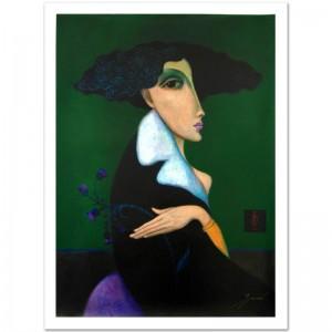 "Legendary Russian Artist Sergey Smirnov (1953-2006)! ""Anna Pavlova"" Limited Edition Mixed Media on Canvas (30"" x 40"")"