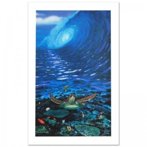 Turtle Time Limited Edition Giclee on Canvas by Renowned Artist Wyland