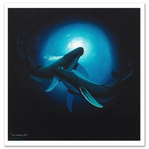 Sea Dance Limited Edition Giclee on Canvas by Renowned Artist Wyland