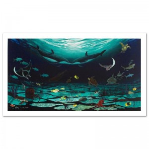 """Loving Sea Limited Edition Giclee on Canvas (42"""" x 22.5"""") by Famed Artist Wyland"""