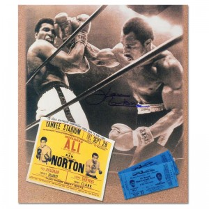 "Must-Have Signed Sports Photo Collage! ""Ken Norton and Ali Ticket"" Hand-Autographed by Ken Norton (1943-2013)! Includes Certificate of Authenticity!"