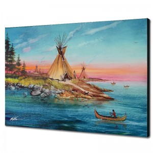 Tipi Territory Limited Edition Giclee on Canvas by Martin Katon