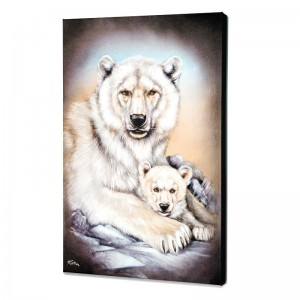 Polar Bears Limited Edition Giclee on Canvas by Martin Katon