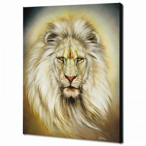 White Lion Limited Edition Giclee on Canvas by Martin Katon
