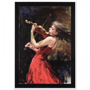 "The Passion of Music Limited Edition Hand Embellished Giclee on Canvas (24"" x 43"") by Andrew Atroshenko"