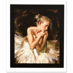 Thoughts Before the Dance Limited Edition Hand Embellished Giclee on Canvas by Andrew Atroshenko