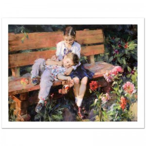 "Garden Treasures Limited Edition Hand Embellished Giclee on Canvas (40"" x 30"") by Mikhail and Inessa Garmash"