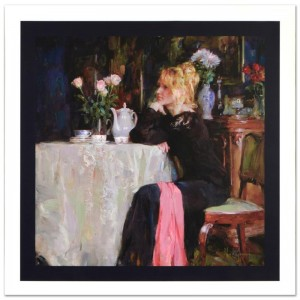 Teatime Daydreams Limited Edition Hand Embellished Giclee on Canvas by Mikhail and Inessa Garmash