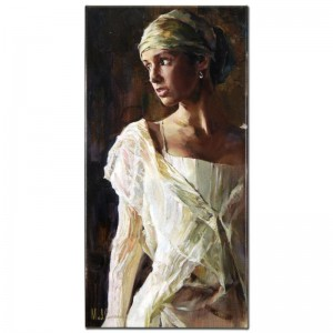 Gentle Light Limited Edition Hand Embellished Giclee on Stretched Canvas by Mikhail and Inessa Garmash