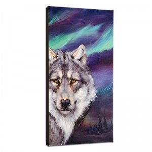 Wolf Lights Limited Edition Giclee on Gallery Wrapped Canvas by Martin Katon