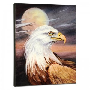 Eagle Moon Limited Edition Giclee on Gallery Wrapped Canvas by Martin Katon