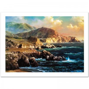 Big Sur Limited Edition Lithograph by Alexander Chen! Numbered and Hand Signed with Certificate of Authenticity!