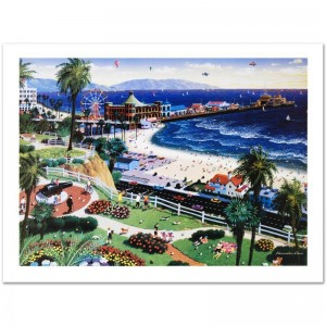Santa Monica Limited Edition Lithograph by Alexander Chen