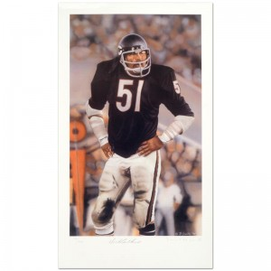 """Daniel M. Smith - """"Dick Butkus"""" Limited Edition Lithograph Dated (1990)"""