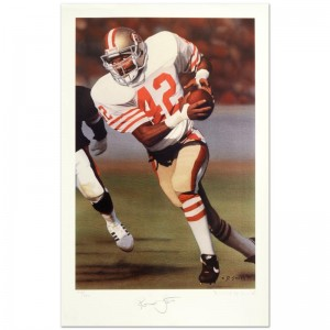 """Daniel M. Smith - """"Ronnie Lott"""" Limited Edition Lithograph Dated (1990)"""