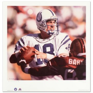 """Daniel M. Smith - """"Peyton Manning"""" Limited Edition Lithograph Dated (2000)"""