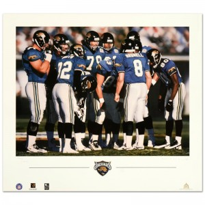 """Daniel M. Smith - """"The Huddle VII (Jaguars)"""" Limited Edition Lithograph Dated (1997)"""