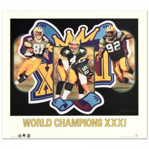 """Daniel M. Smith - """"World Champion XXXI (Packers)"""" Limited Edition Lithograph Dated (1997)"""