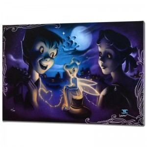 Tink vs. Wendy Disney Limited Edition Giclee on Canvas from a Sold Out Edition by Noah