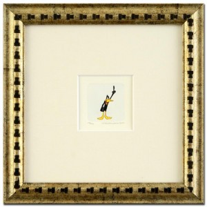 Daffy Duck Framed Limited Edition Etching with Hand-Tinted Color (Dated 1999)!