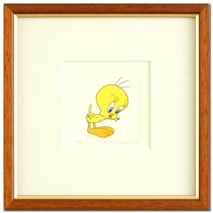 Tweety Framed Limited Edition Etching with Hand-Tinted Color (Dated 1999)!
