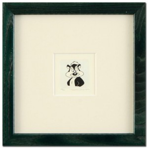Pepe Le Pew Framed Limited Edition Hand-Tinted Etching (Dated 1999) from Warner Bros.!