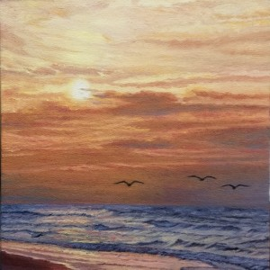 Sunrise on the Beach 12x16